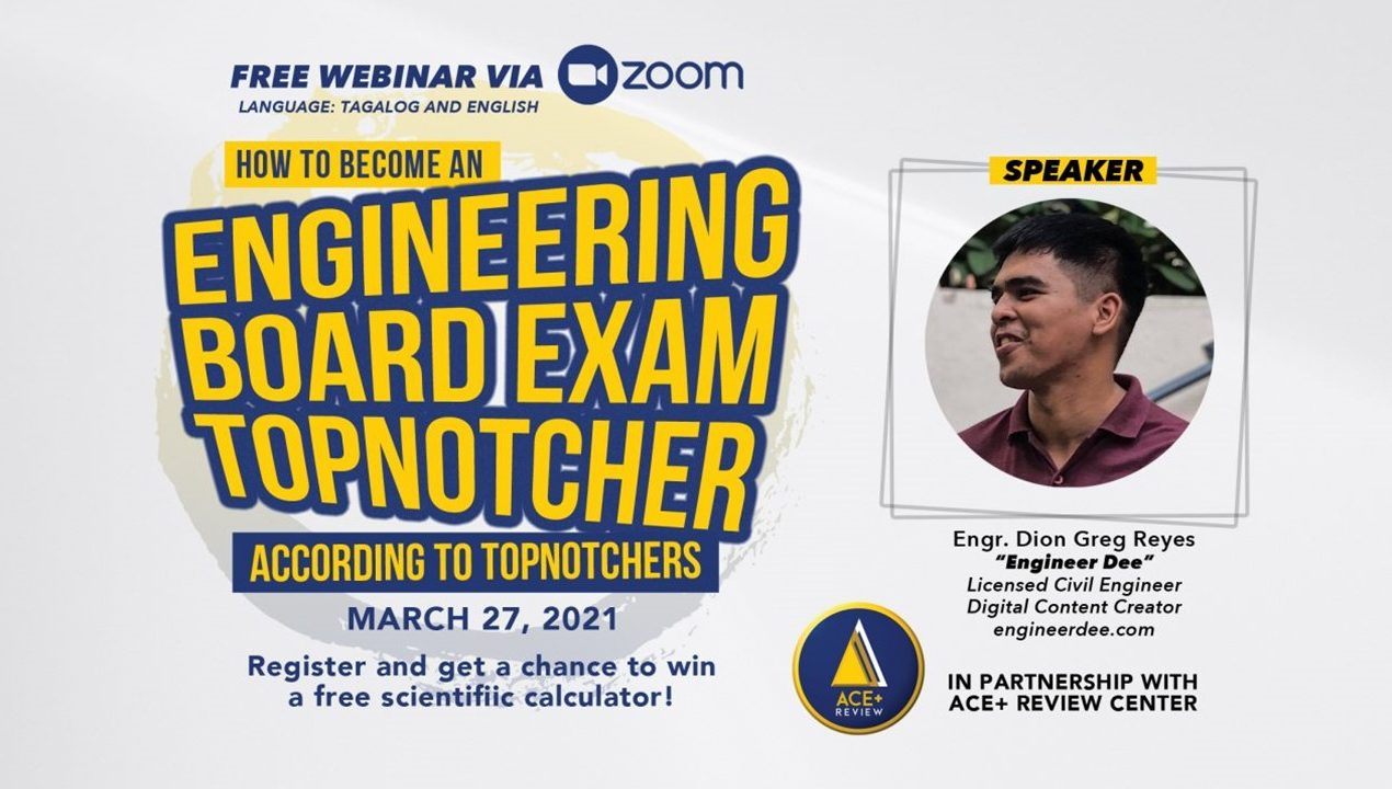 FREE WEBINAR: How to Become an Engineering Board Exam Topnotcher According to Topnotchers