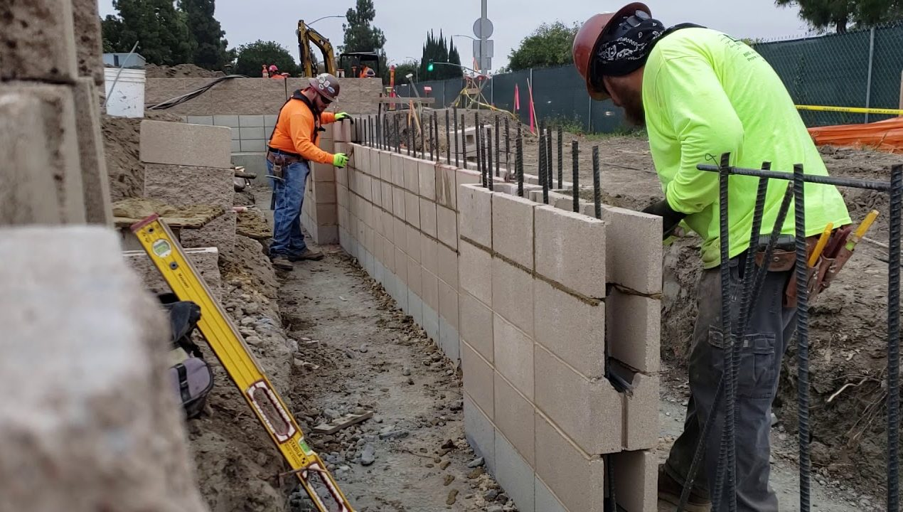 """In Laying Concrete Hollow Blocks, We Also Use """"Stack Bond"""""""